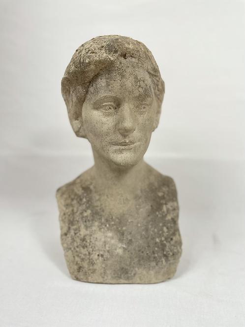 Carved limestone Female bust