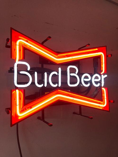 Bud beer neon light