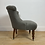 Thumbnail: Newly upholstered late Victorian tub chair