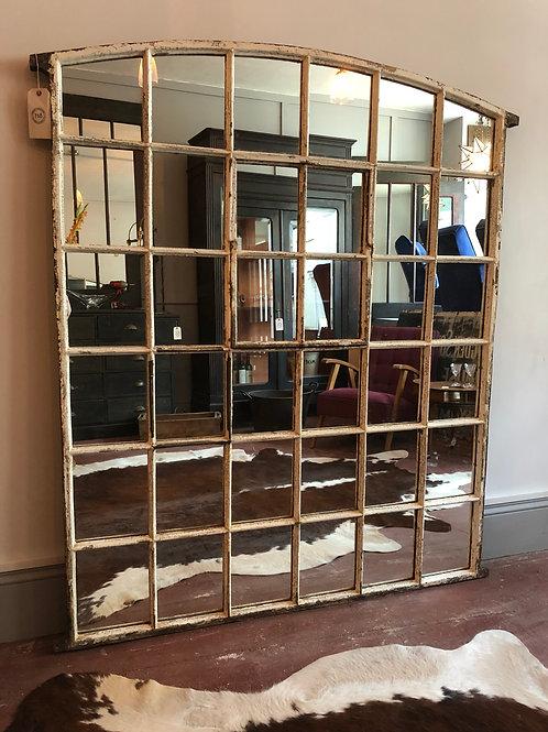 Large Cast Iron Window Mirror