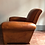 Thumbnail: Antique pair of French leather club chairs