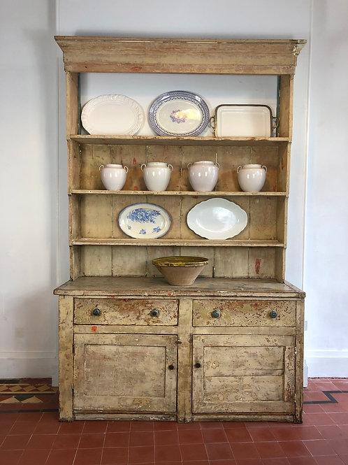 Large English pine dresser