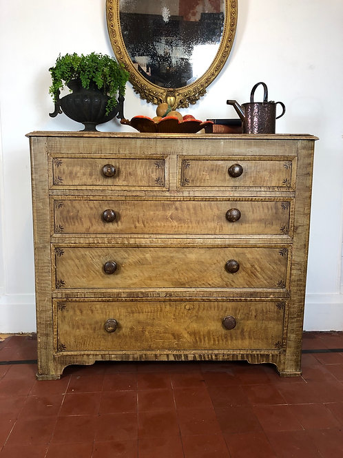 Large English chest of drawers