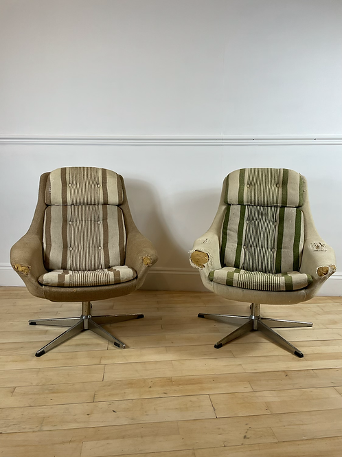 LYSTOLET EGG CHAIRS TO BE UPHOLSTERED