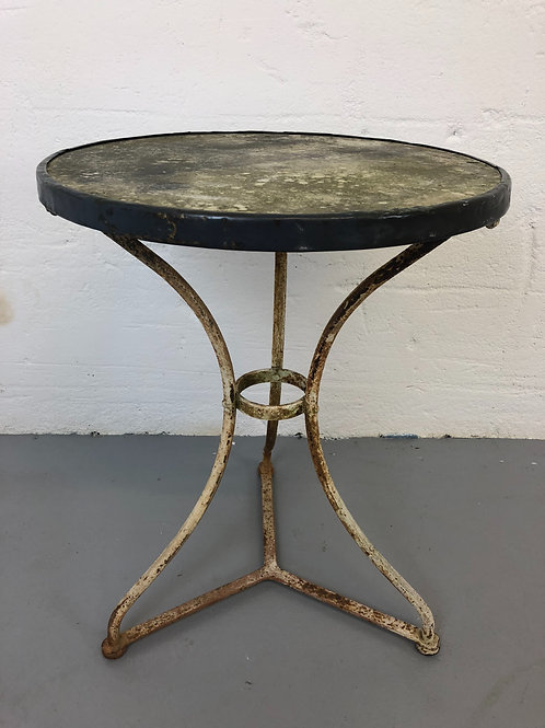 Antique marble topped French bistro table