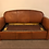 Thumbnail: French leather 3 seat sofa bed