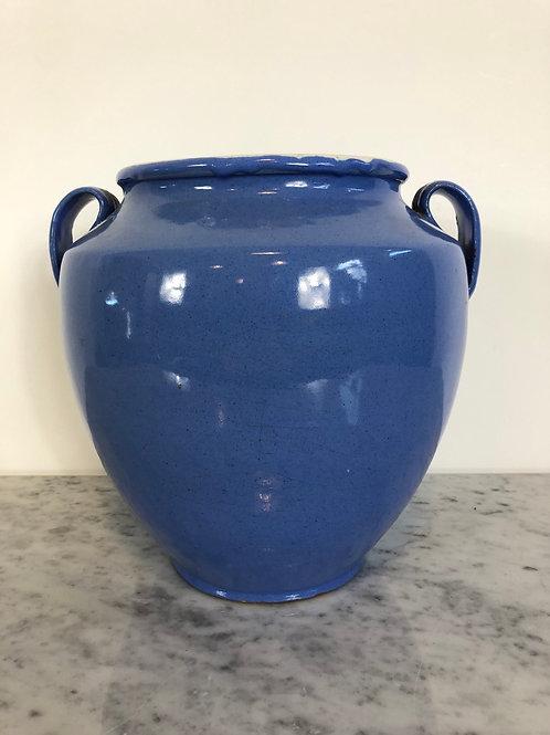 Rare blue confit pot