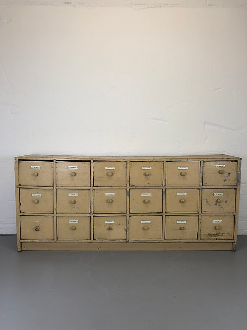 Large low slung bank of drawers (Reserved)