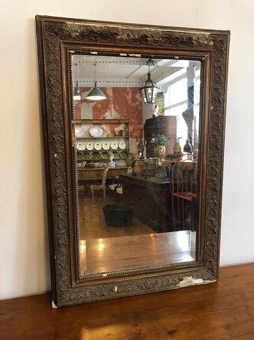 Antique gold gilt french mirror