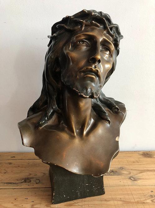 Plaster Jesus bust