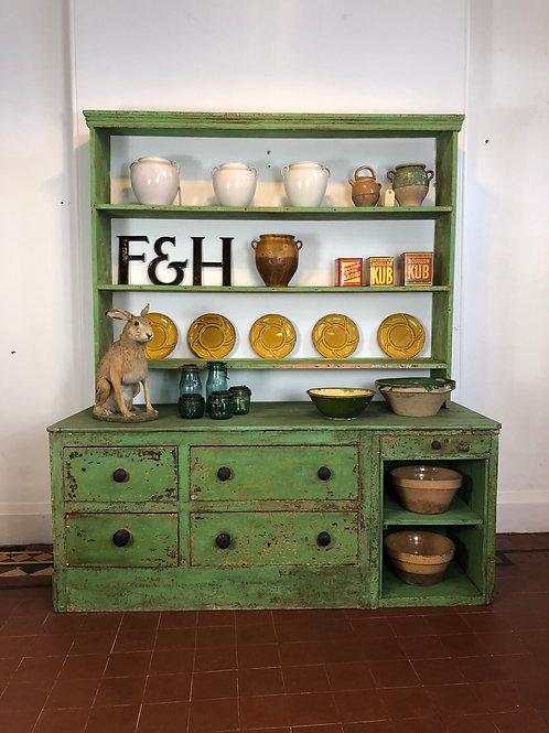 Large green pine dresser