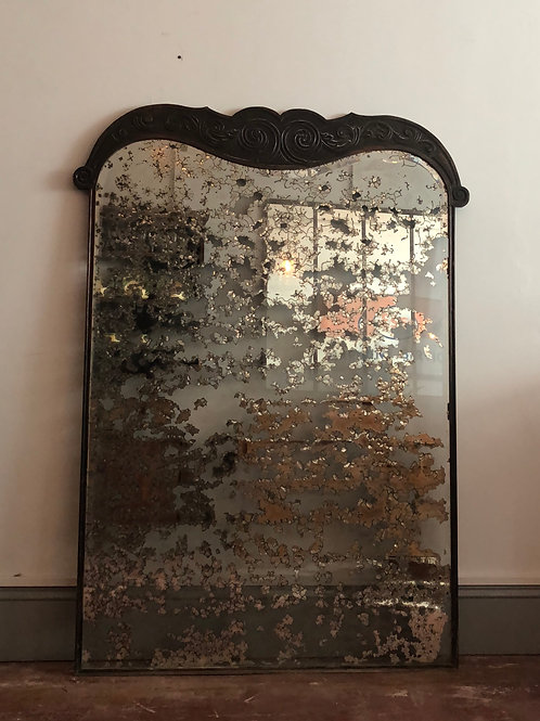 Antique Heavily foxed mirror