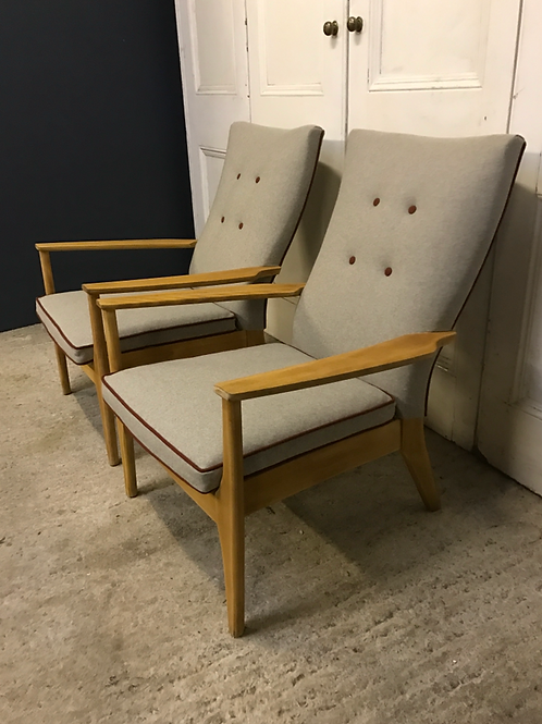 Vintage Parker knoll armchairs