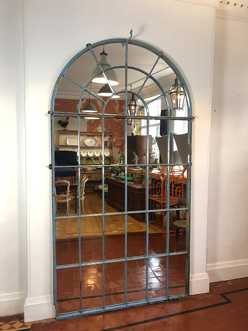 Large cast iron window mirror