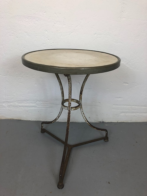 Marble topped bistro table