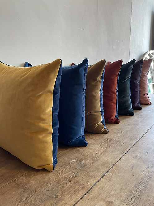 Velvet scatter cushions