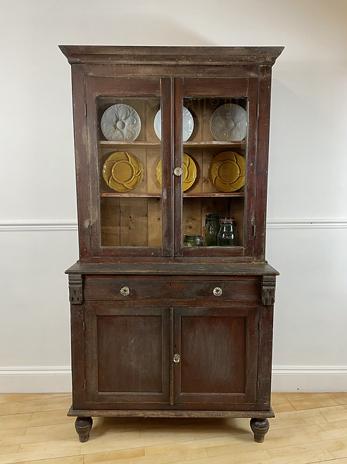 SMALL WELSH GLASS FRONTED DRESSER