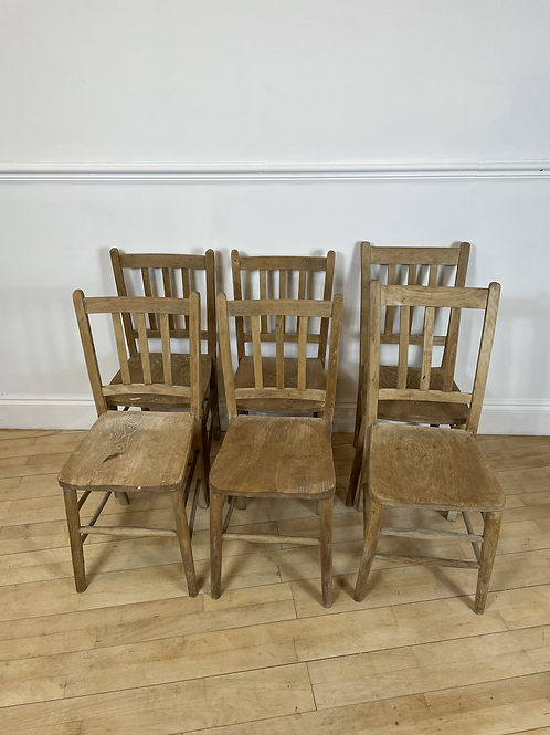 Antique elm chairs set of 6