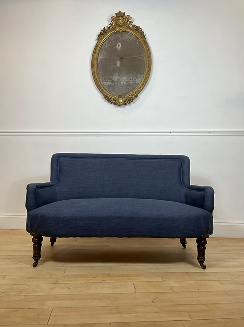 Newly re-upholstered late 19th Century 2 seat sofa
