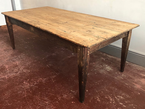Large pine factory table