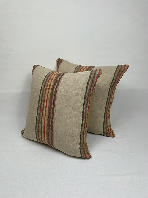 Linen type striped scatter cushions