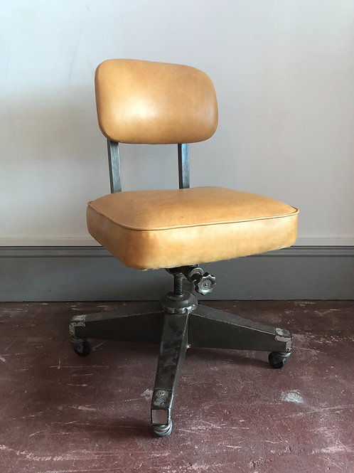 Industrial typist leather chair