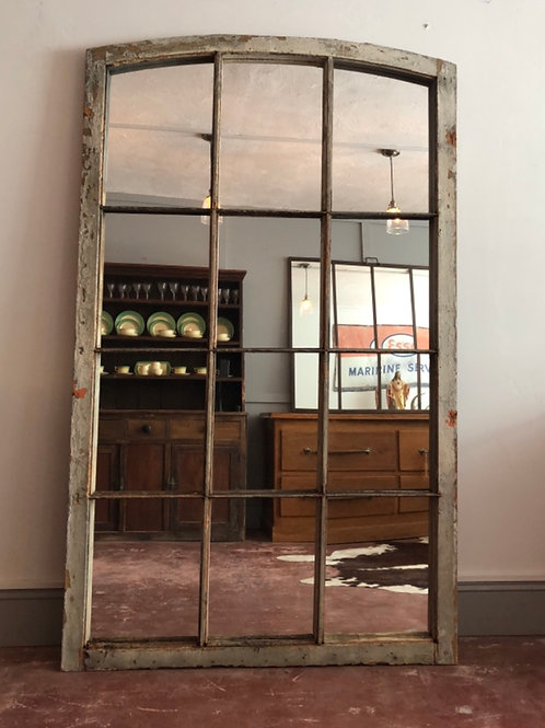 Antique French window - upcycled mirror