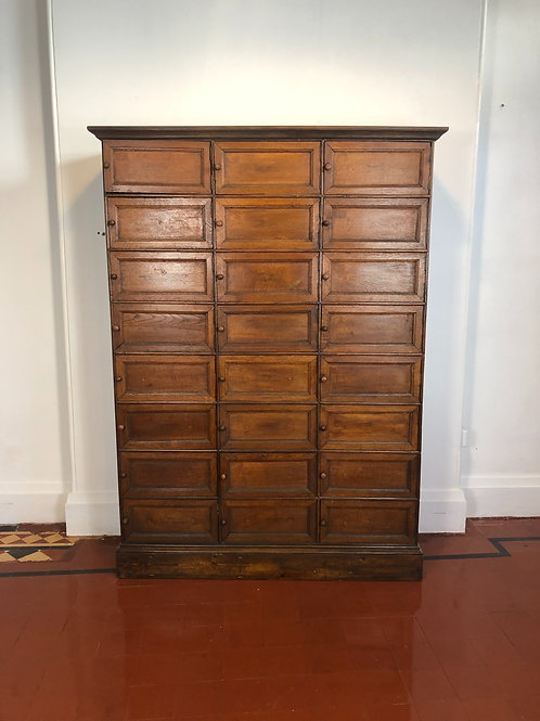 French oak notaries cabinet