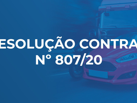 RESOLUÇÃO CONTRAN Nº 807/20