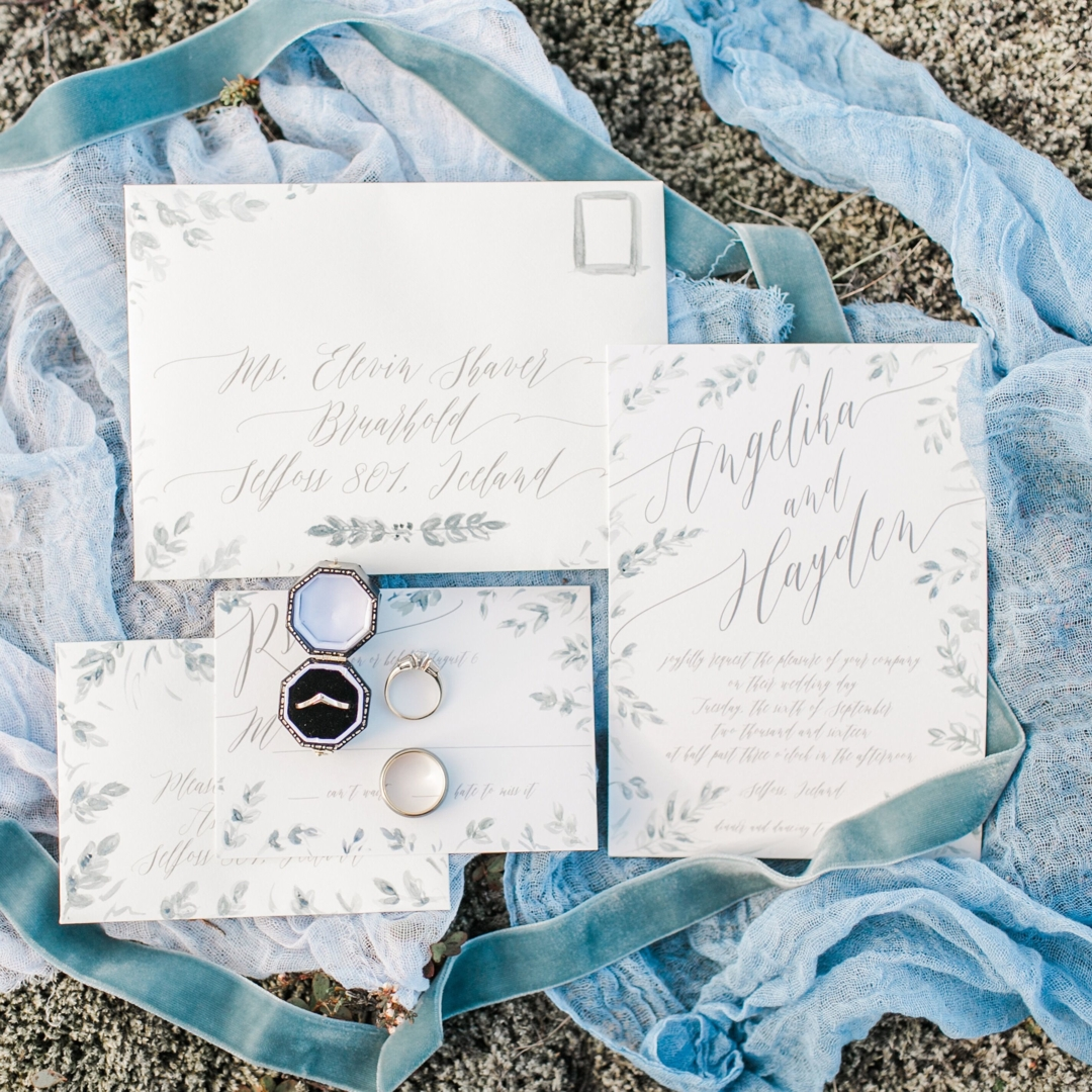 Seafoam Blue Invitation Suite