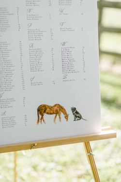 Watercolor Animals Seating Chart
