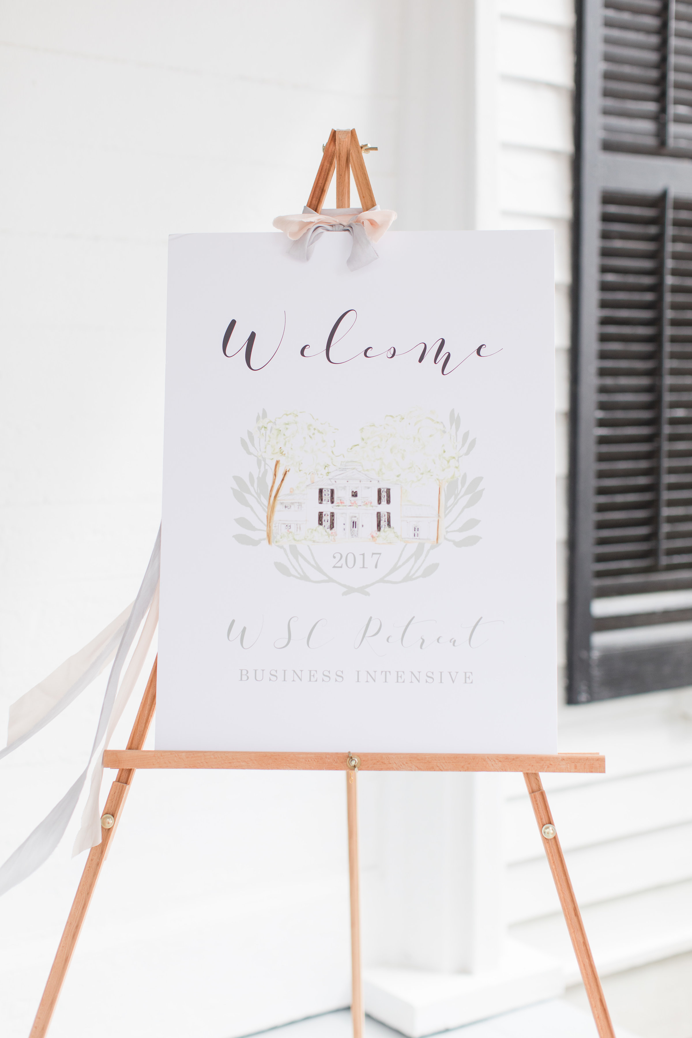 Venue Painting Welcome Sign