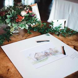 Wedding Venue Watercolor Painting
