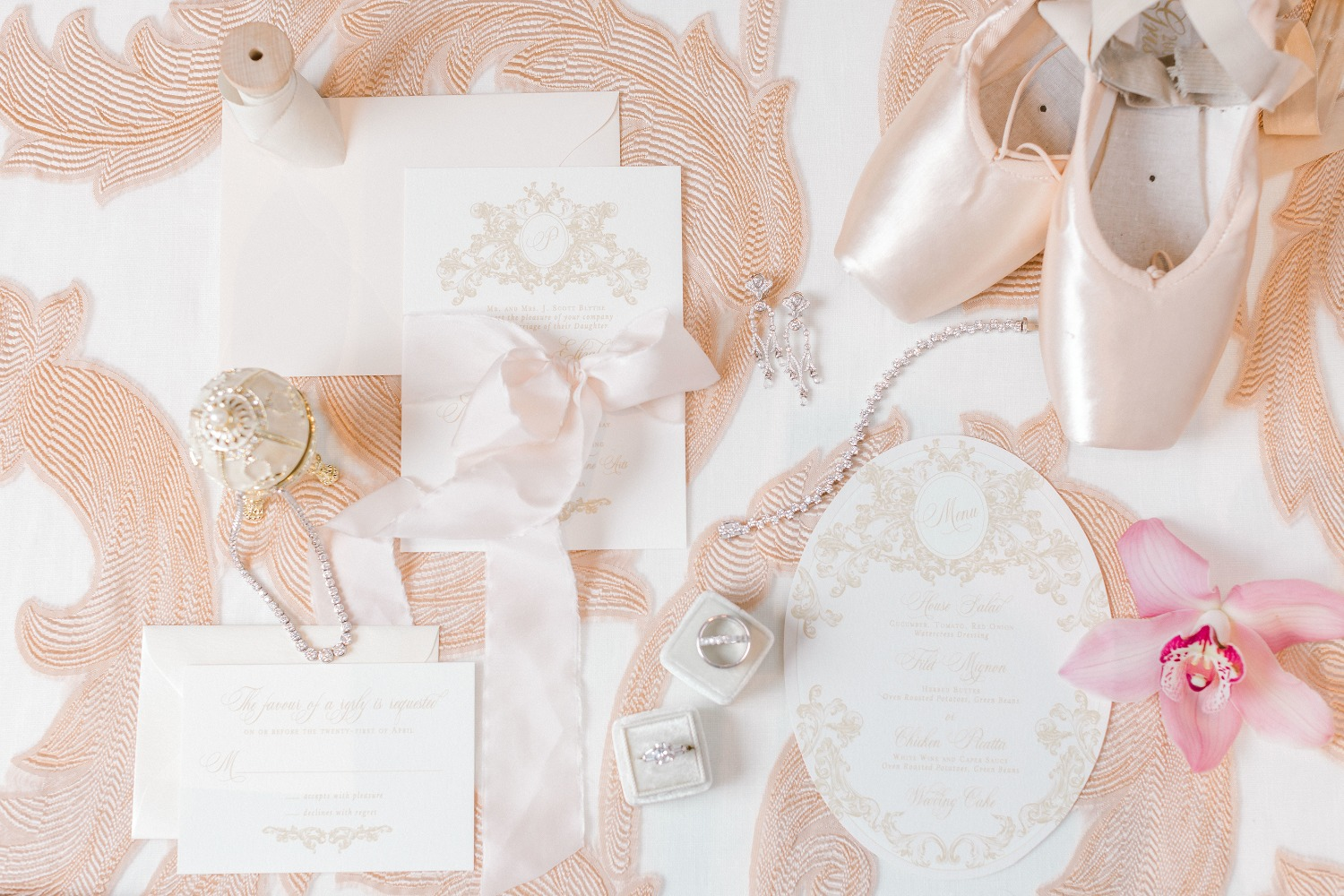 Ballet Inspired Invitation Suite
