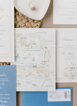 Cape Cod Watercolor Map