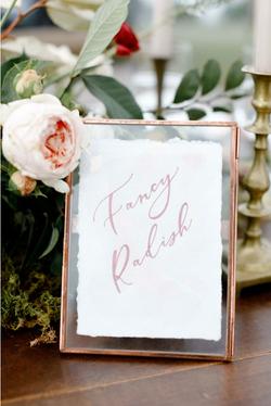 Reception Decor Hand Lettered