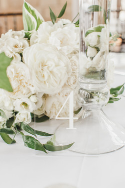 Glass Table Number