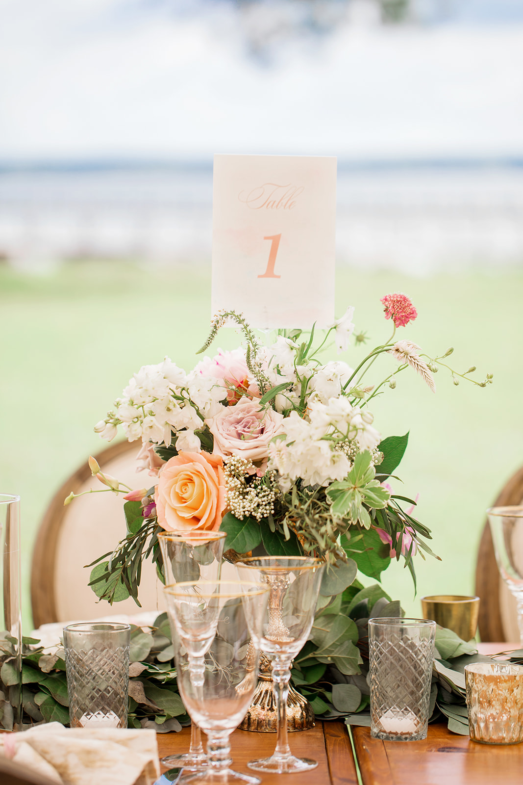 Floral Boho Table Number