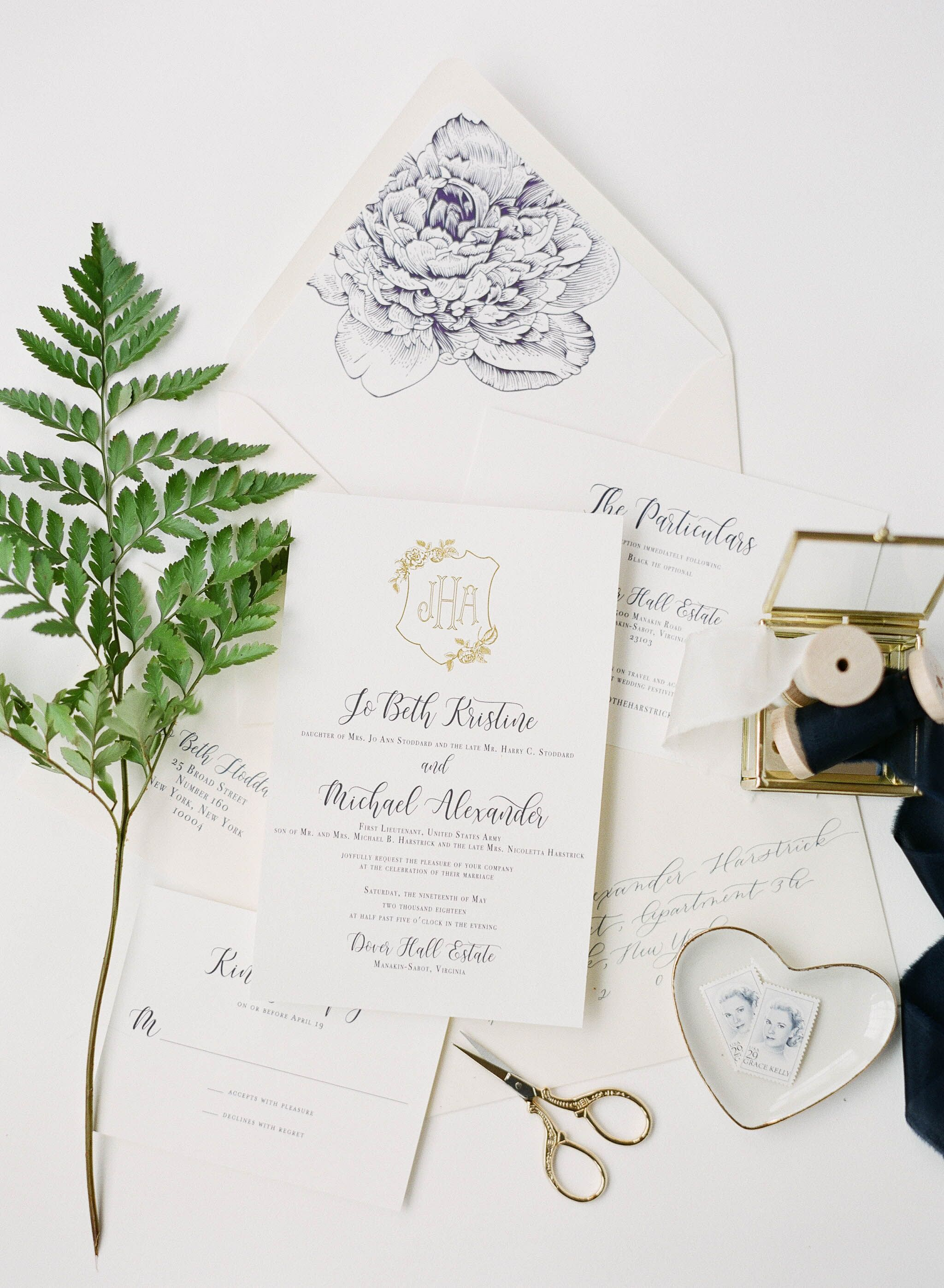 Detailed Invitation Suite