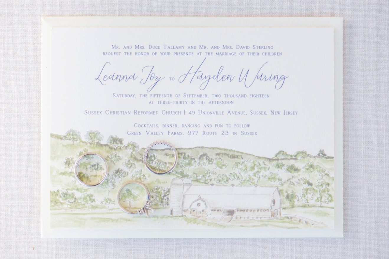 Rustic Invitation Announcement