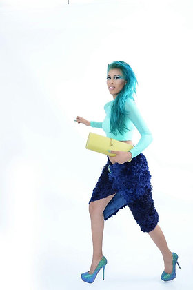 Alpaca Blue Wrap Skirt