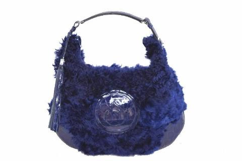 Alpaca Blue with Press Patent Leather Bag