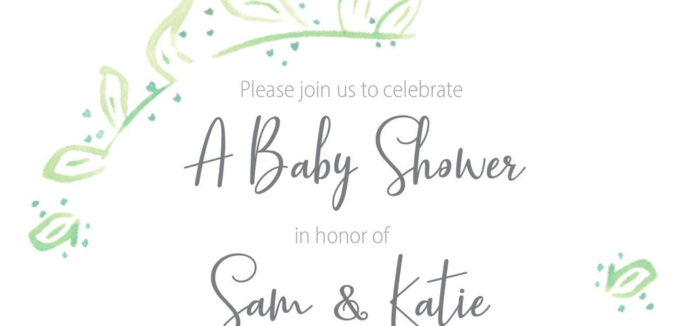 Digital Shower Invitations