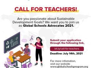 Call for Teachers!