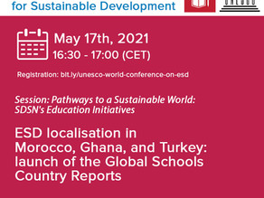 Global Schools Draft Country Reports to be launched at UNESCO World Conference on ESD