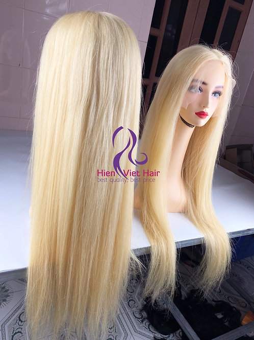 Blonde hair lace front wig - 100% human hair