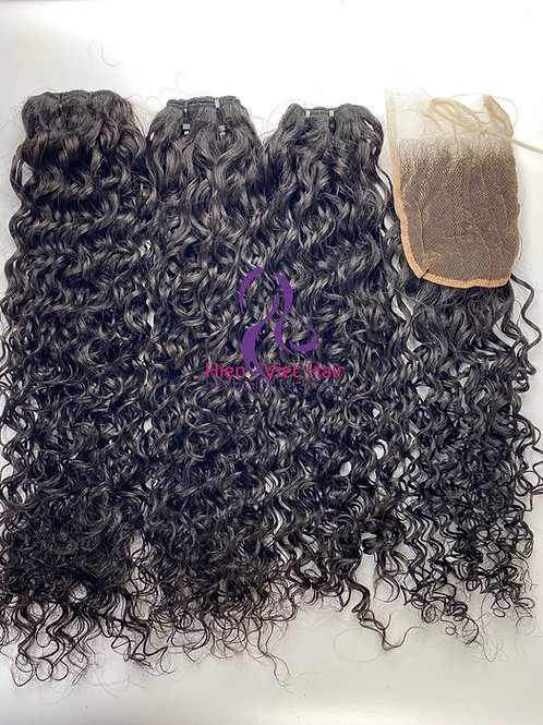 Jerry curly hair with matching closure - 100% virgin hair - hair wholesale