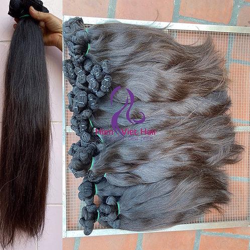 Natural brown silky straight hair with 100% Virgin hair - hair wholesale