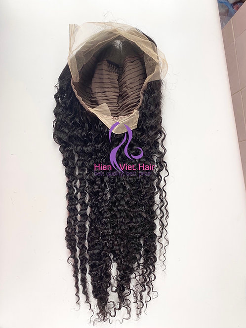 Curly lace front wig with hdlace and 100% human hair