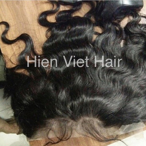 Natural wave lace frontal 13x4-top quality with 100% virgin hair